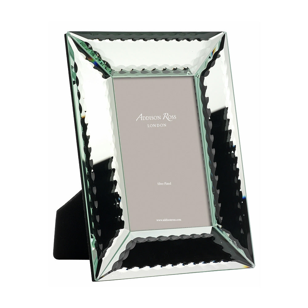 Scalloped Edged Mirror Photo Frame - Glass Frames - Addison Ross