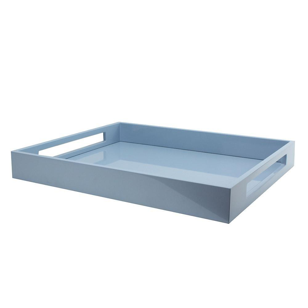 Pale Denim Blue Medium Lacquered Serving Tray - Addison Ross Ltd UK