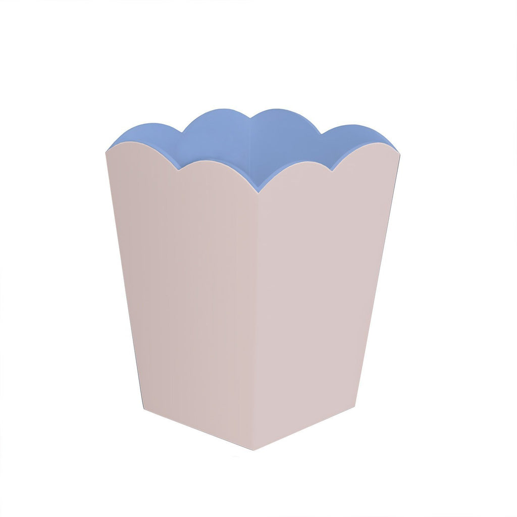 Scalloped Lacquer Bin – Pink & Blue - Addison Ross Ltd UK