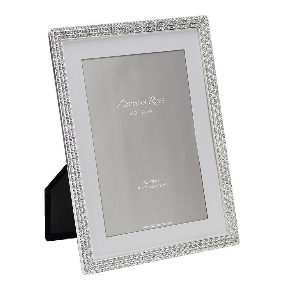 Silver Beatrice Diamante Frame - Addison Ross Ltd UK