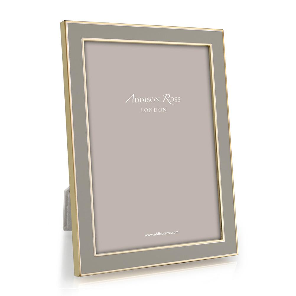 Taupe Enamel & Gold Frame - Addison Ross Ltd UK