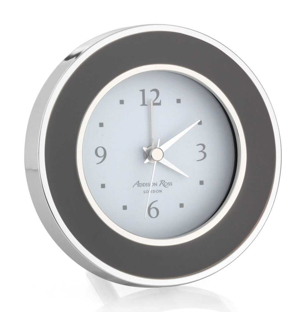 Taupe & Silver Silent Alarm Clock - Addison Ross Ltd UK