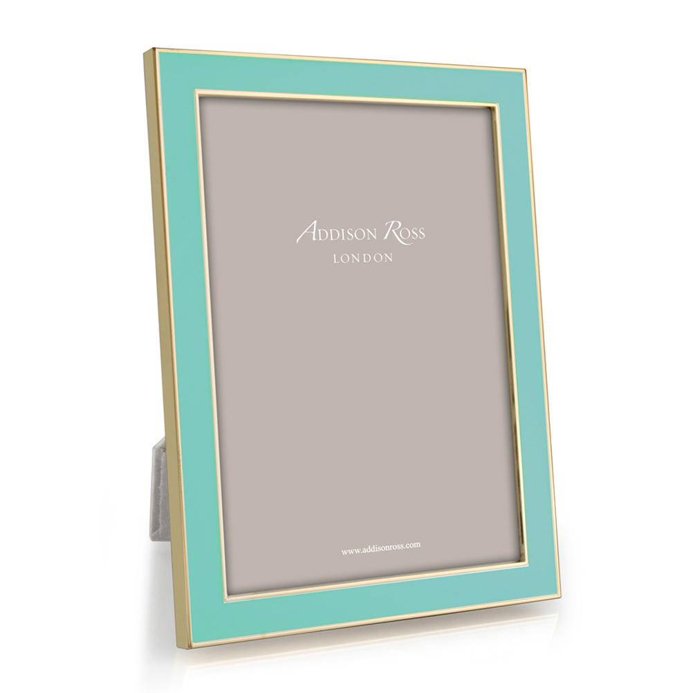 Turquoise Blue Enamel & Gold Frame - Addison Ross Ltd UK