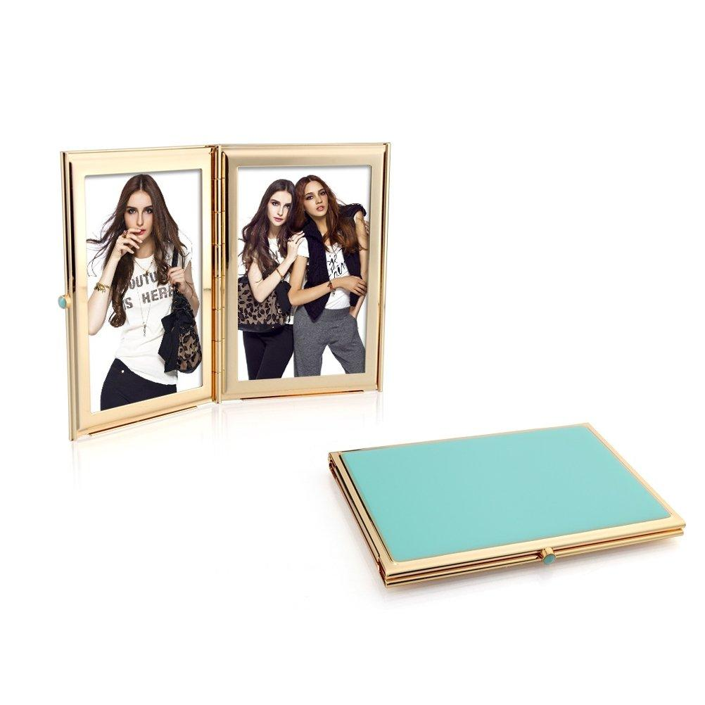 Turquoise Blue & Gold Travel Frame - Addison Ross Ltd UK
