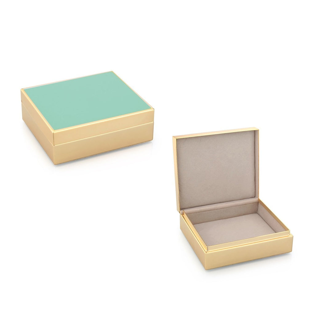 Turquoise Enamel & Gold Box - Addison Ross Ltd UK