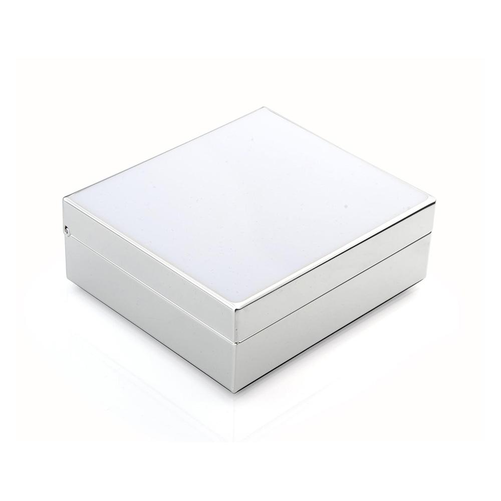 White Enamel & Silver Box - Addison Ross Ltd UK