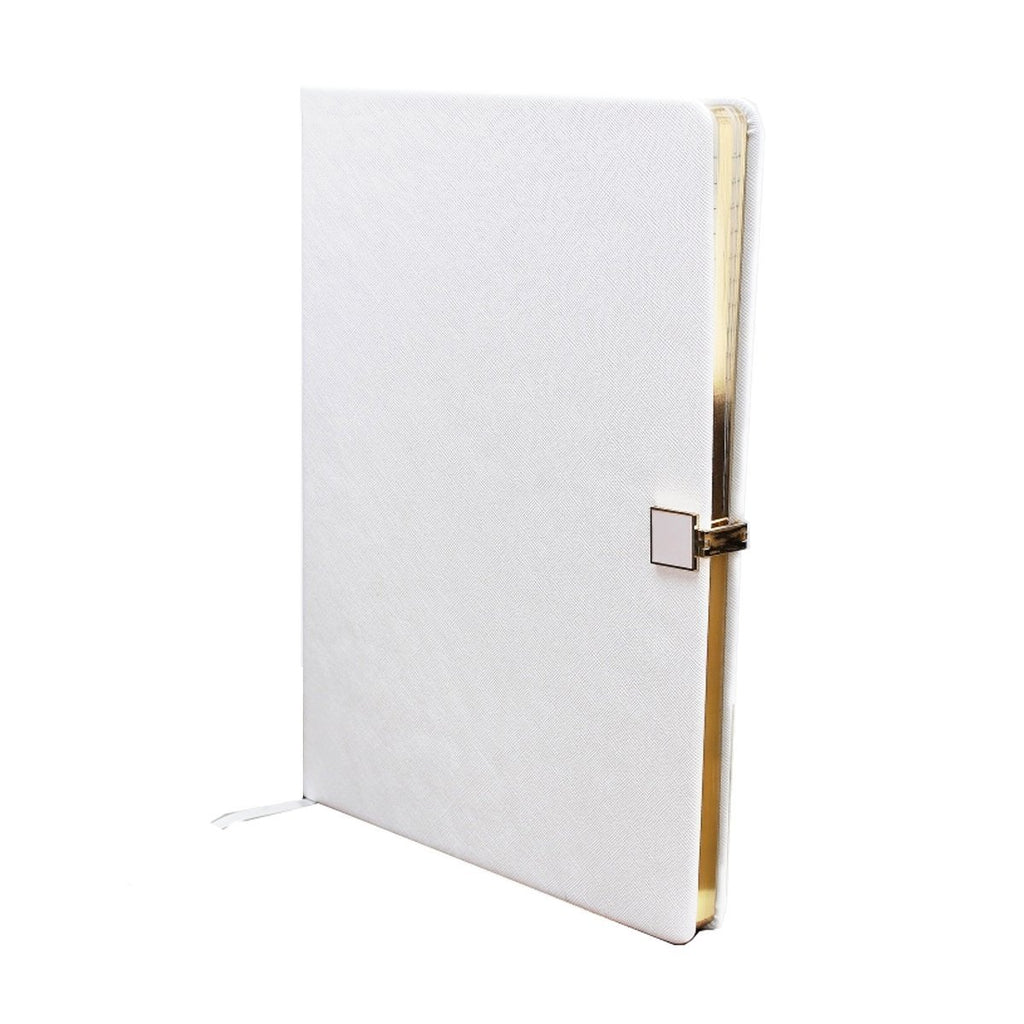 White & Gold A4 Notebook - Addison Ross Ltd UK