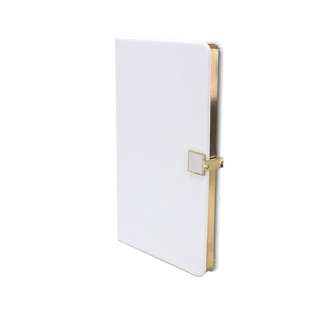 White & Gold A5 Notebook - Addison Ross Ltd UK