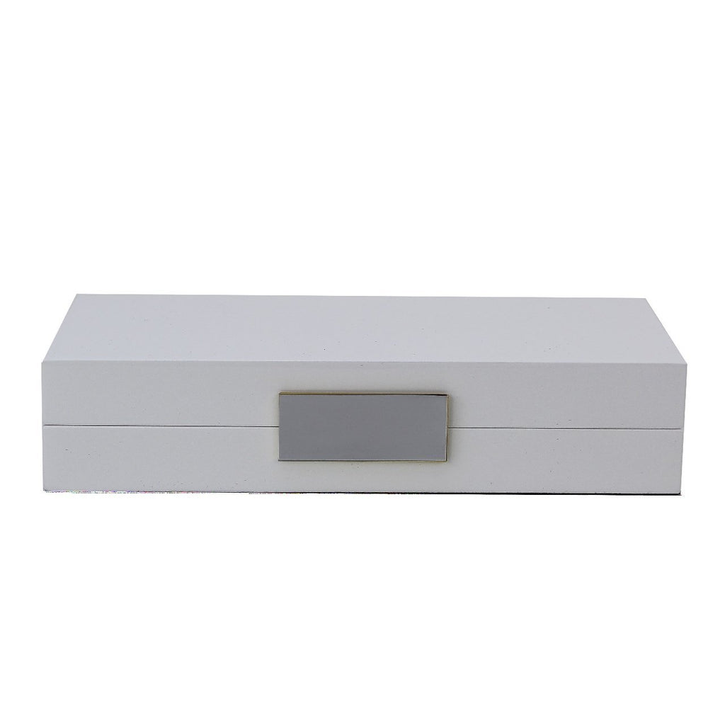 White Lacquer Box With Silver - Addison Ross Ltd UK