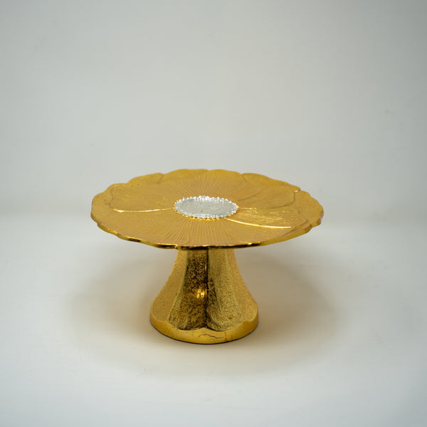 Gold Metal Cake Stand.