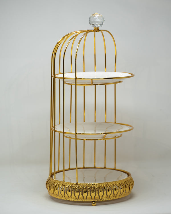 Bird Cage 3 tier cake display stand