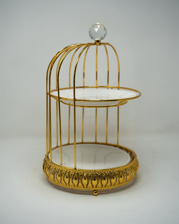 Bird Cage 2 tier cake display stand