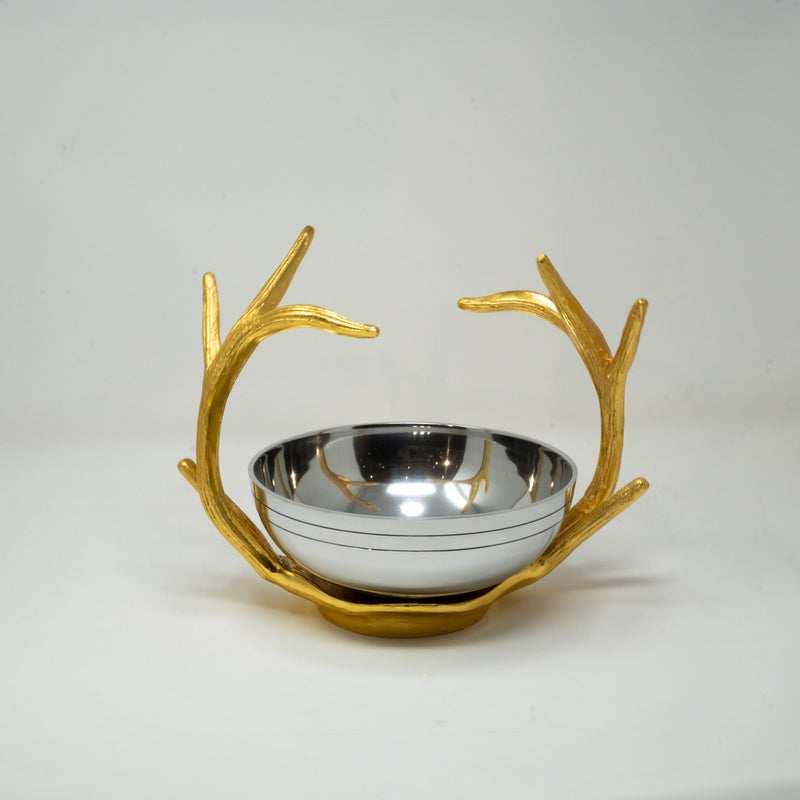 Gold and Silver Decorative Bowl.