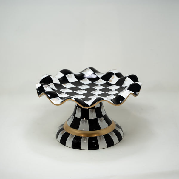 Black and White Chequered Cake Stand.