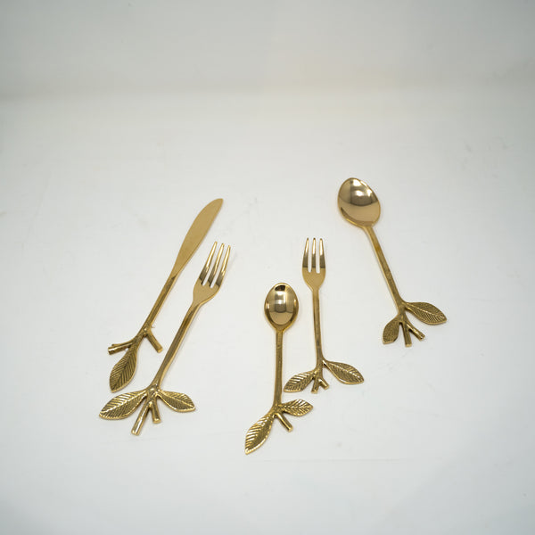 Hand Made Gold Serving Cutlery.