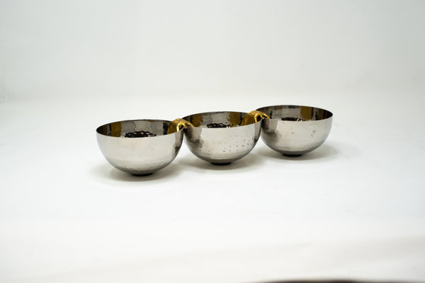 Silver And Gold Serving Tray