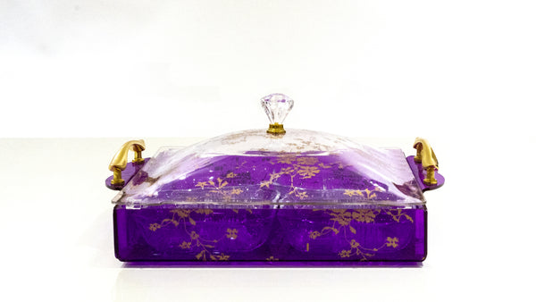 Nut Tray With Lid - Purple