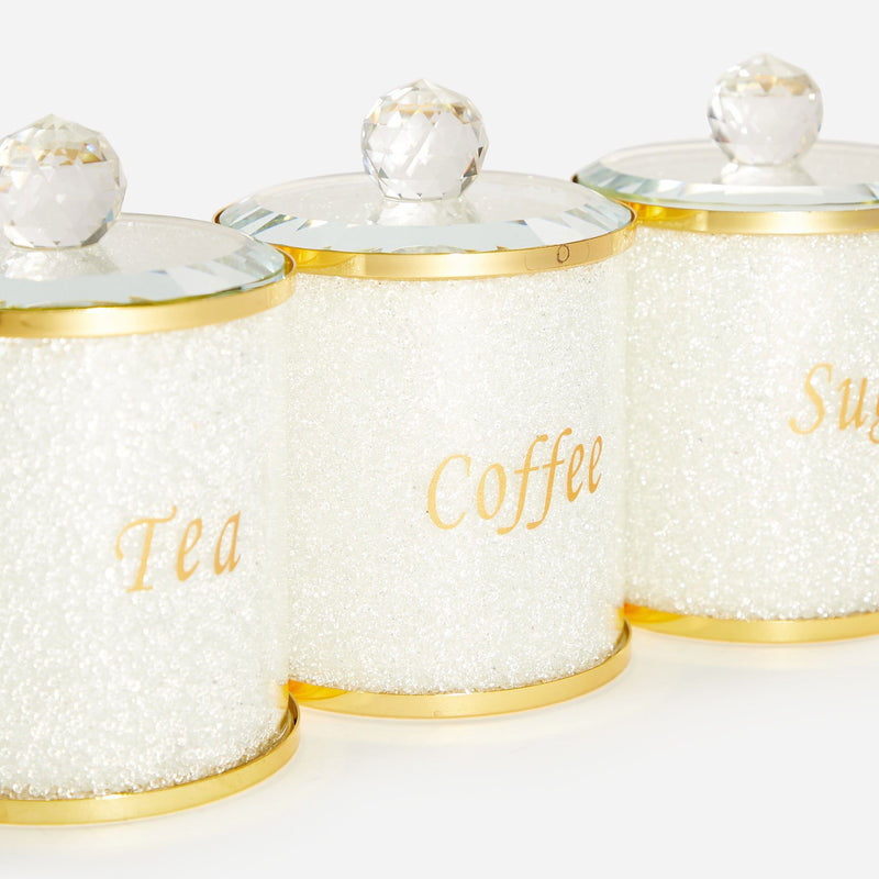 Set of three tea coffee jars.
