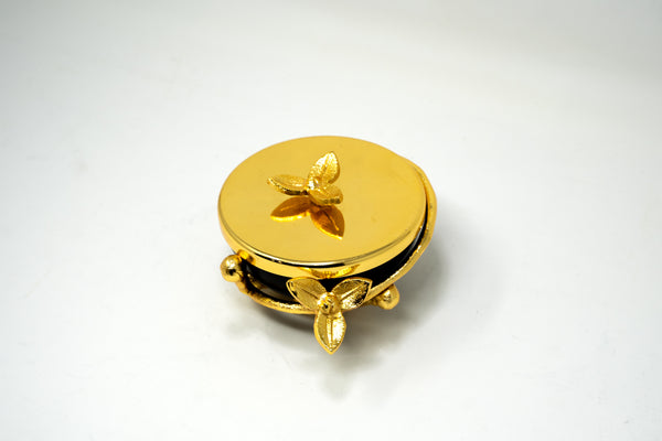 Gold and Black Trinket Box.