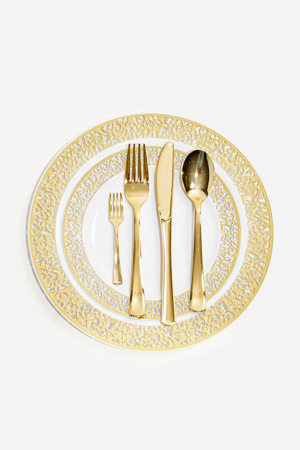 150 Pcs Dinnerware Set - Gold