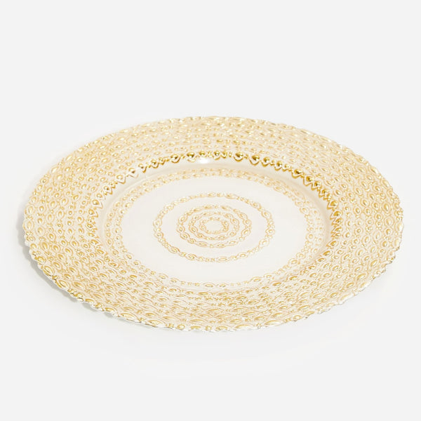 Decorative Glass Plate - Gold