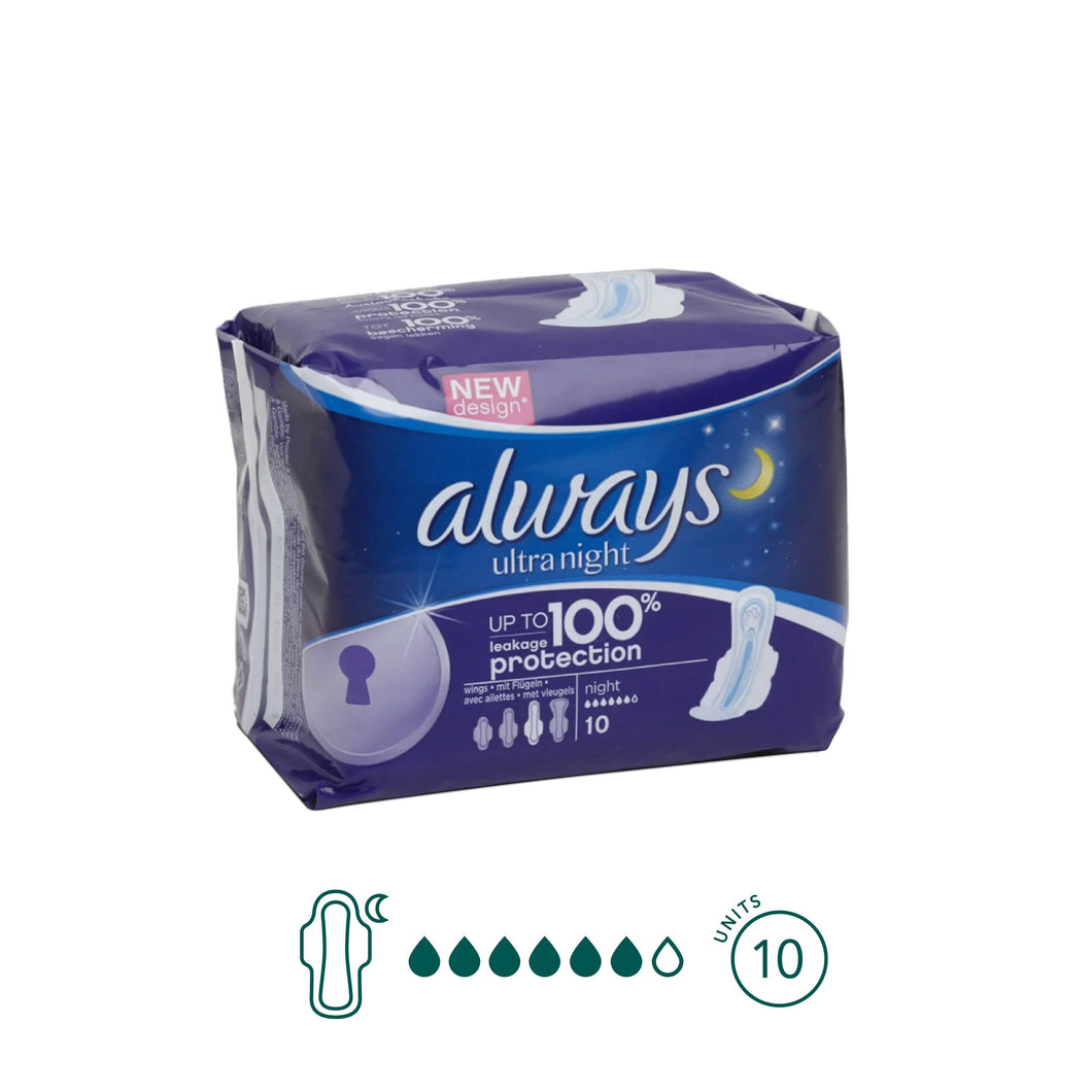 Always - Night Pads - Aura - Period Subscription Box