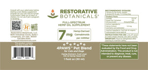 4Paws PET Blend™ Hemp Oil Extract