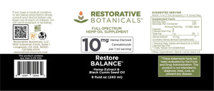 Restore BALANCE™ Hemp Oil Extract - Restorative Botanicals