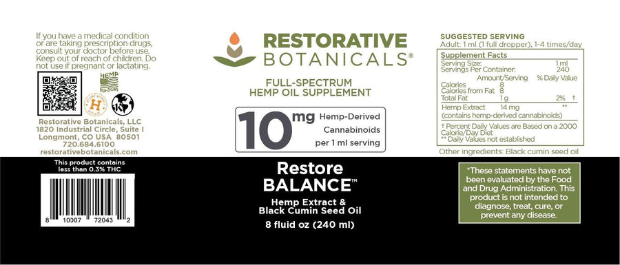 Restore BALANCE™ Hemp Oil Extract