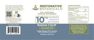 Restore CALM™ Hemp Oil Supplement - Restorative Botanicals