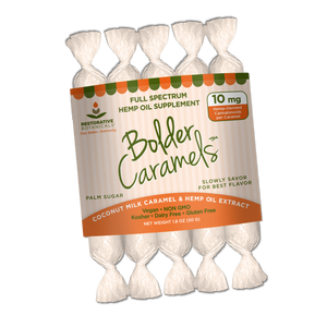 Bolder Caramels™ Artisan Crafted Hemp Extract Caramels - 10mg/Piece
