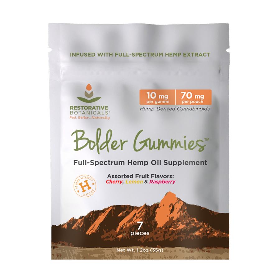 Bolder Gummies™ Hemp Extract Treat - 7ct. Variety Pack - 10mg/pc.