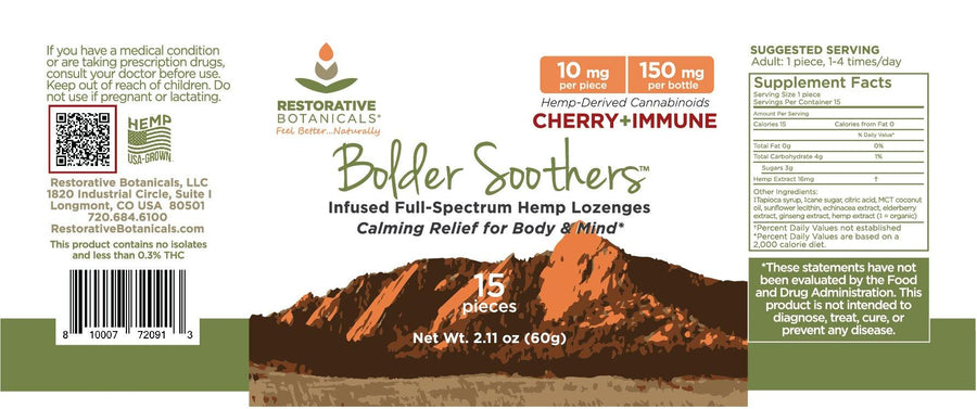 Bolder Soothers™ Hemp Lozenges - 15ct - 10 mg/piece