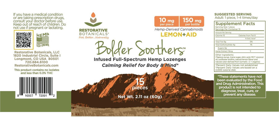 Bolder Soothers - Hemp Lozenges -10 mg/piece