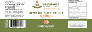 Restorative Botanicals Hemp Oil Supplement Softgels