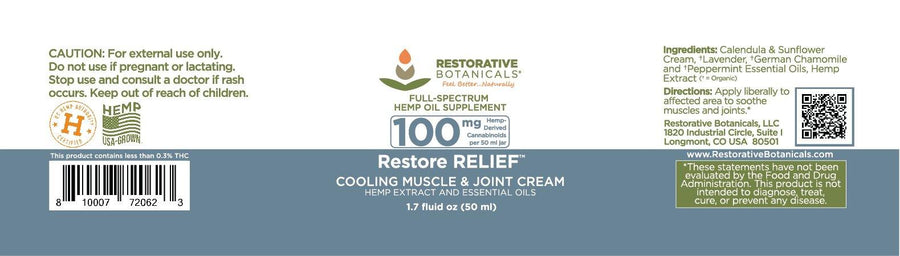 Restore Relief™ Muscle & Joint Cream