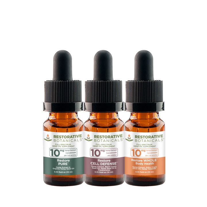 Restore™ HEMP Oil Extract Sample Pack of 3
