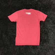 Load image into Gallery viewer, POWER IN MOTION Dotted Power Tee - Maroon/White