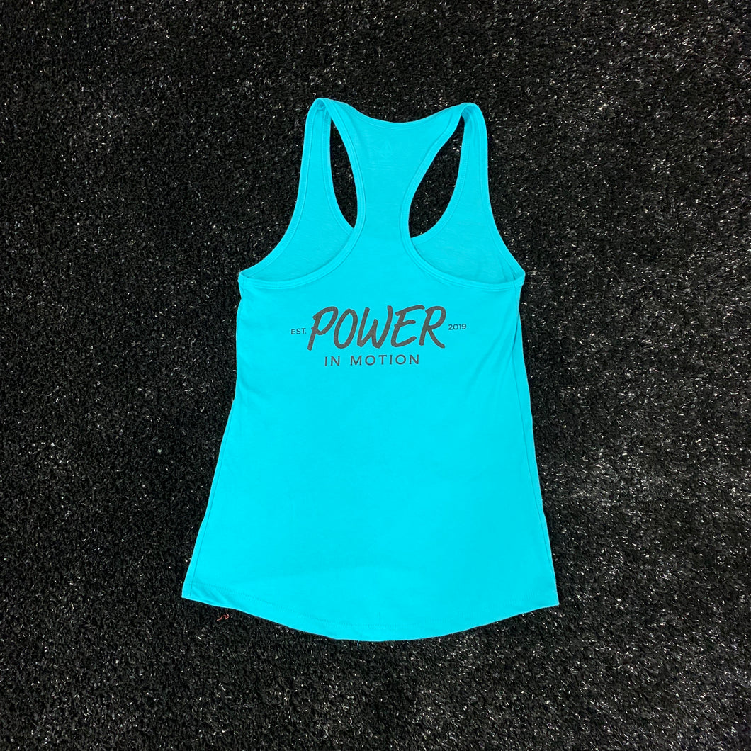 POWER IN MOTION Established 2019 Women's Tank Top - Teal