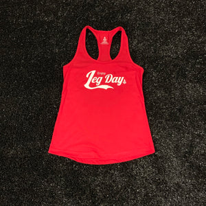 POWER IN MOTION Enjoy Leg Day Women's Tank - Red