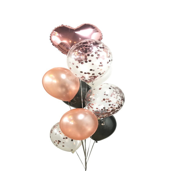 Confetty Metallic Latex Balloon Bunch