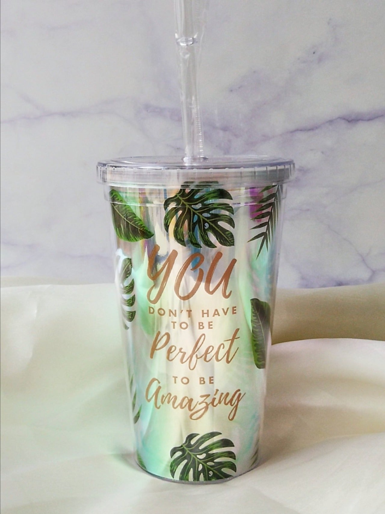 Monstera Double Wall Smoothie Cup
