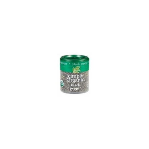 Simply Organic Mini Ground Pepper Black Med (6x.56 Oz)
