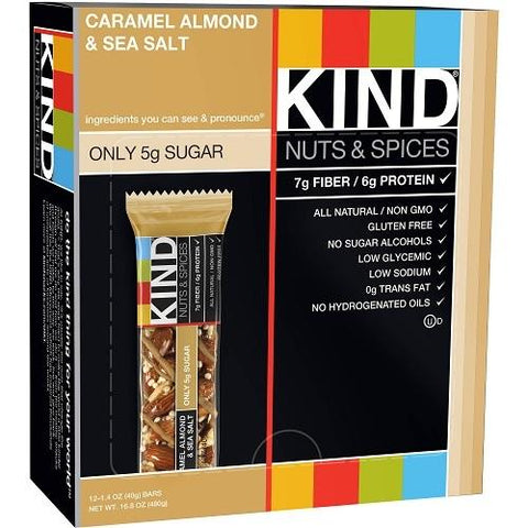 Kind Caramel Almond and Sea Salt Bar (12x1.4 OZ)