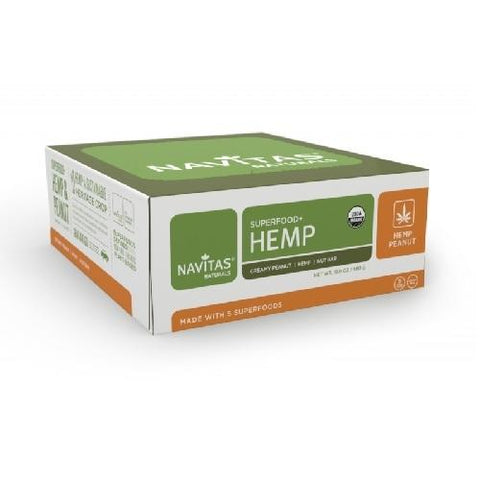 Navitas Naturals Superfood Hemp Creamy Peanut Bar (12x1.4 OZ)