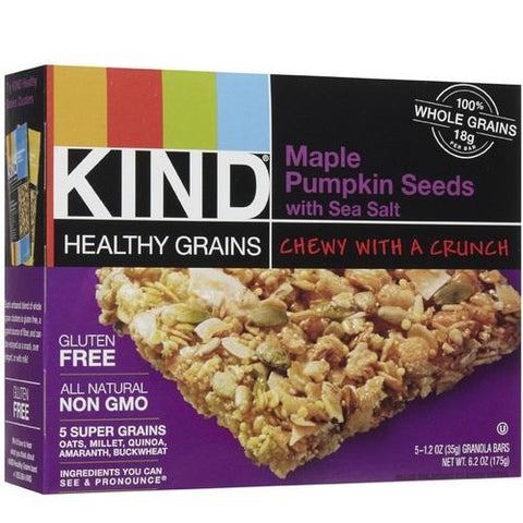 Kind Gran Bar, Maple Pmkn Sd W/Sslt (8/5x1.2 OZ)