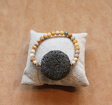 Lava Disk And Sandstone Hot And Not Bothered Bracelet