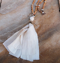 Load image into Gallery viewer, Blum™ Ivory And Sandalwood Tassel Necklace