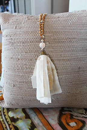 Blum™ Ivory And Sandalwood Tassel Necklace