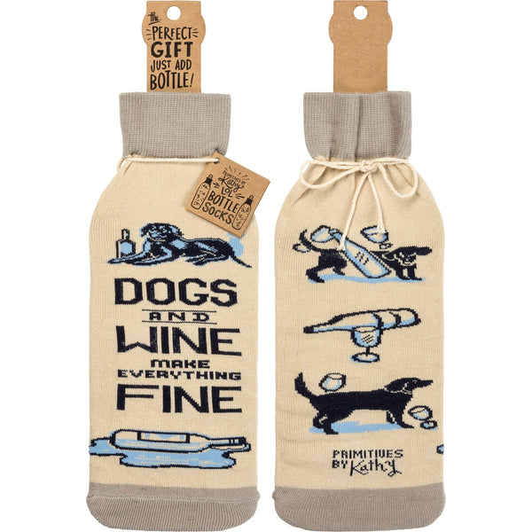 Bottle Cover, Dogs & Wine Make Everything Fine